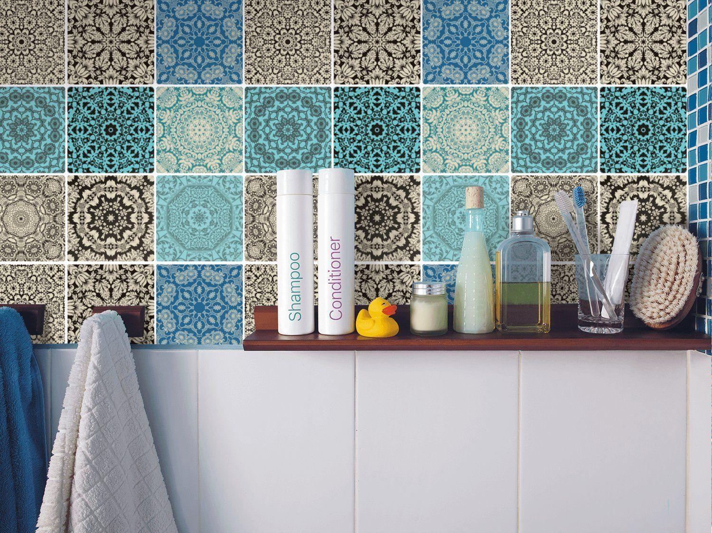 Dekorfliesen Designfolie | Fliesen-Aufkleber Motiv Marrokanisch ... | {Dekorfliesen bad 3}