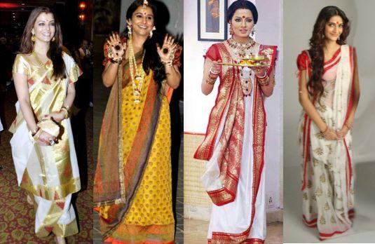 Image result for bengali saree drape