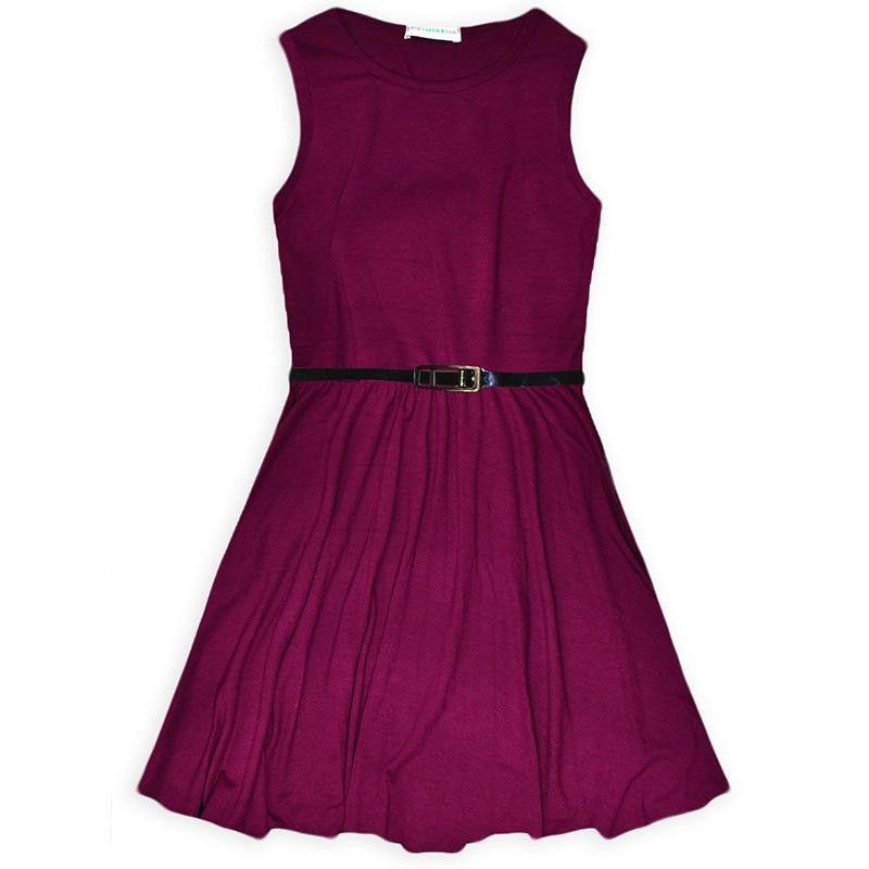 0af474354d52 100% Cotton Girl Dress Summer Vest Dresses For Girls With Belt Children  Casual Clothing Kids