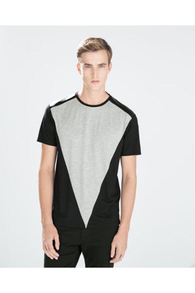 Camisa con estampado geométrico.