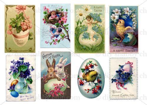 Furniture Slide Decal Vintage Image Transfer Rabbit Rose Chic Antique DIY Arts
