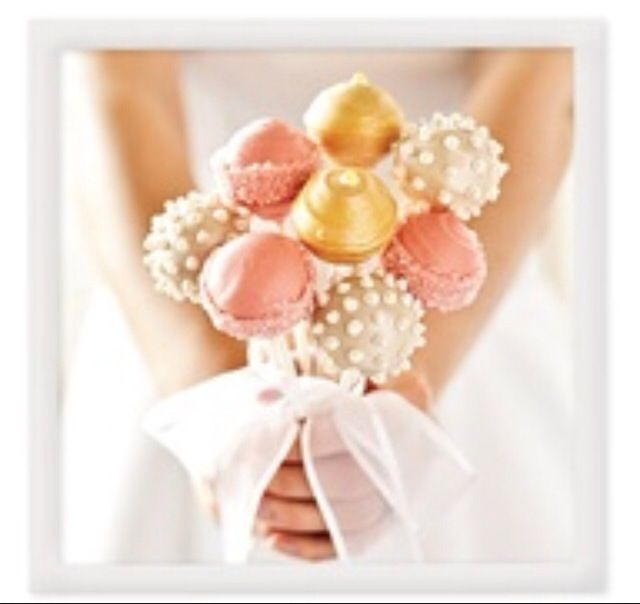 Wedding Registry Search By Name: Cake Pops As Name Tag & Favour