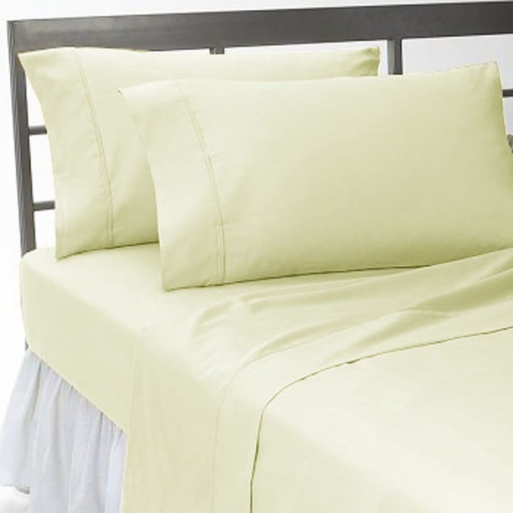 About white 1000tc egyptian cotton complete bedding collection sheet - 1000tc Attached Water Bed Sheet Set Ivory Solid 100 Cotton