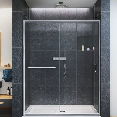 Ultra E 60 X 72 Hinged Shower Doors With Side Panel With