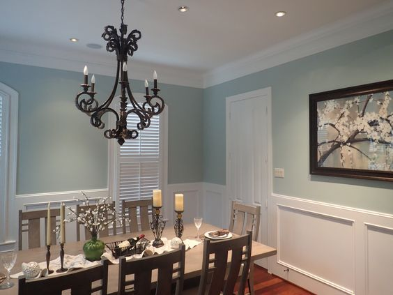 Dining Room --Sherwin Williams Copen Blue: | New house ideas | Pinterest