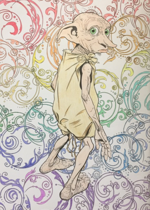 Dobby The House Elf Harry Potter Coloring Book Harry Potter Coloring Pages Elf House