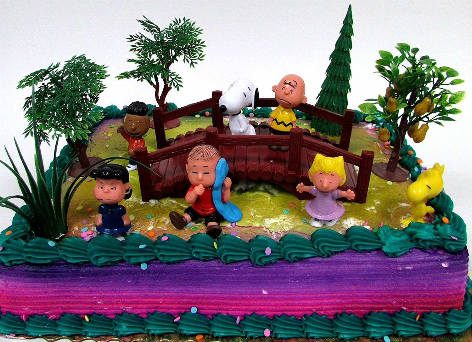 Peanuts Charlie Brown Snoopy 12 Piece Birthday Cake Topper Set