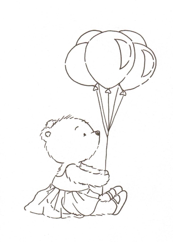teddy bear in a tutu with balloons | calcinhas | Pinterest ...