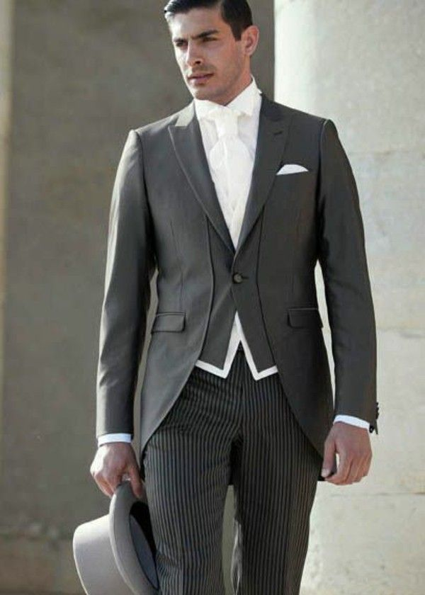 Wedding suit men\'s Retro Grau | Men\'s Wedding Suit Ideas ...