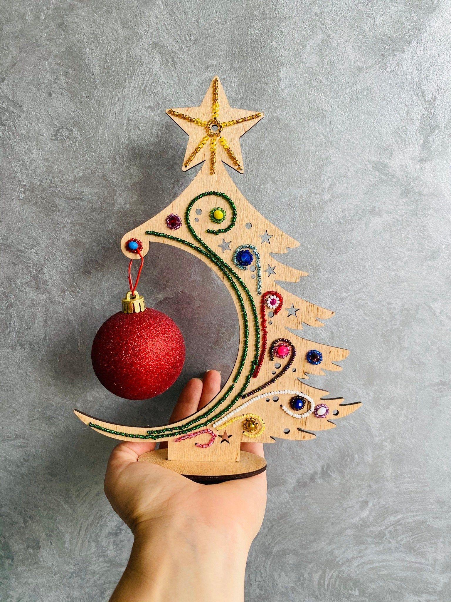 Wooden Christmas Tree Diy Craft Kit Or Handmade Christmas Etsy Wooden Christmas Trees Diy Diy Christmas Tree Diy Craft Kits