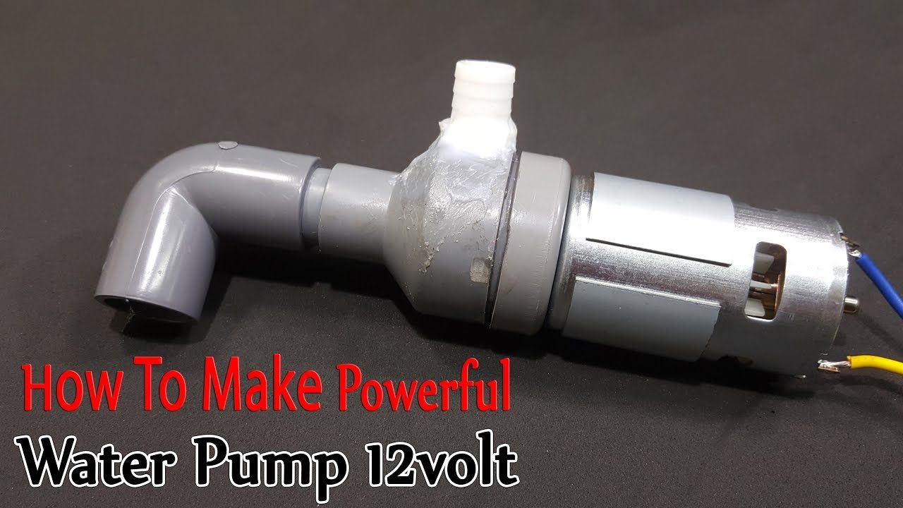 How To Make Powerful Water Pump 12volt With 775 Motor Diy Water Pump Water Pumps Diy Generator
