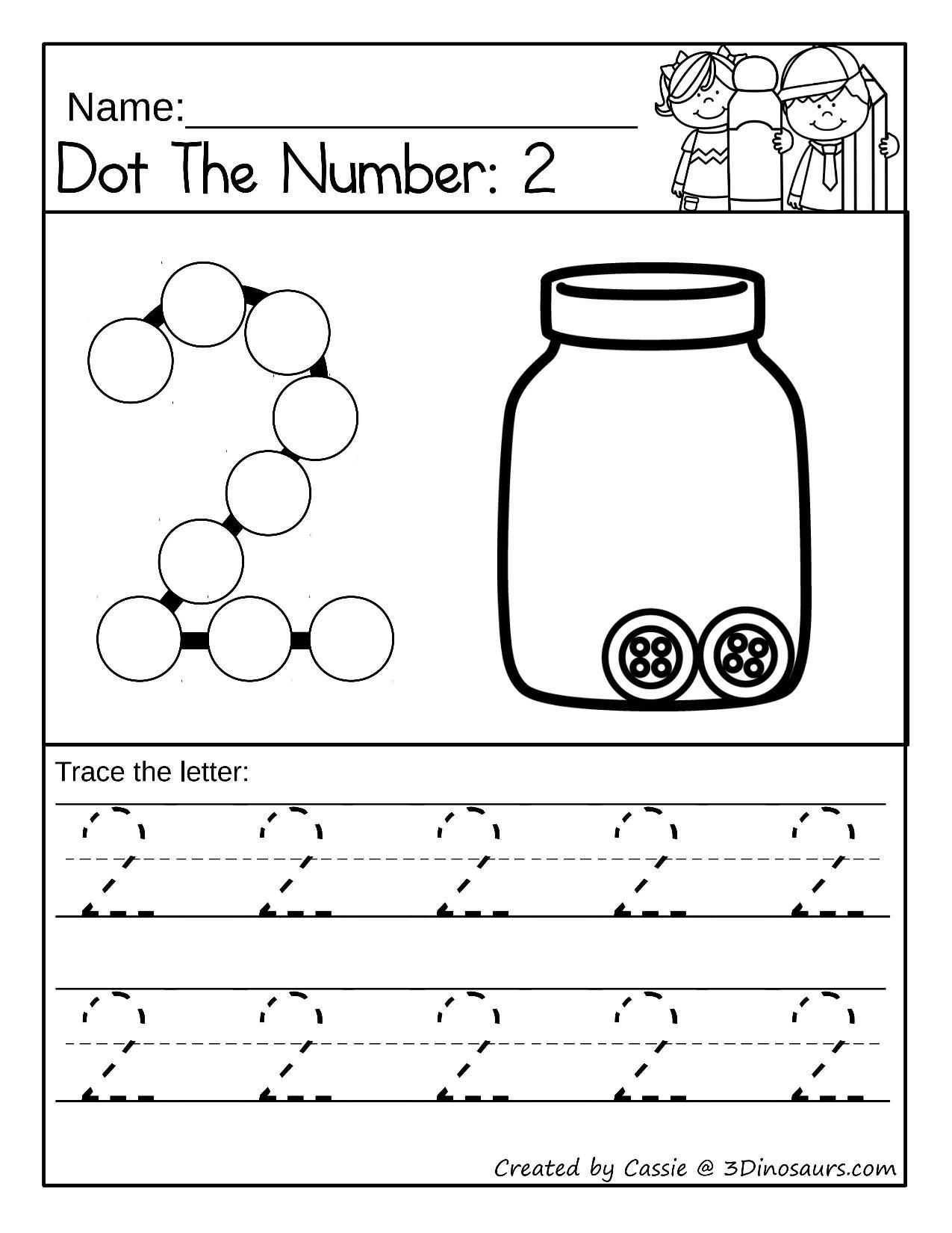 Dot The Number 2 In