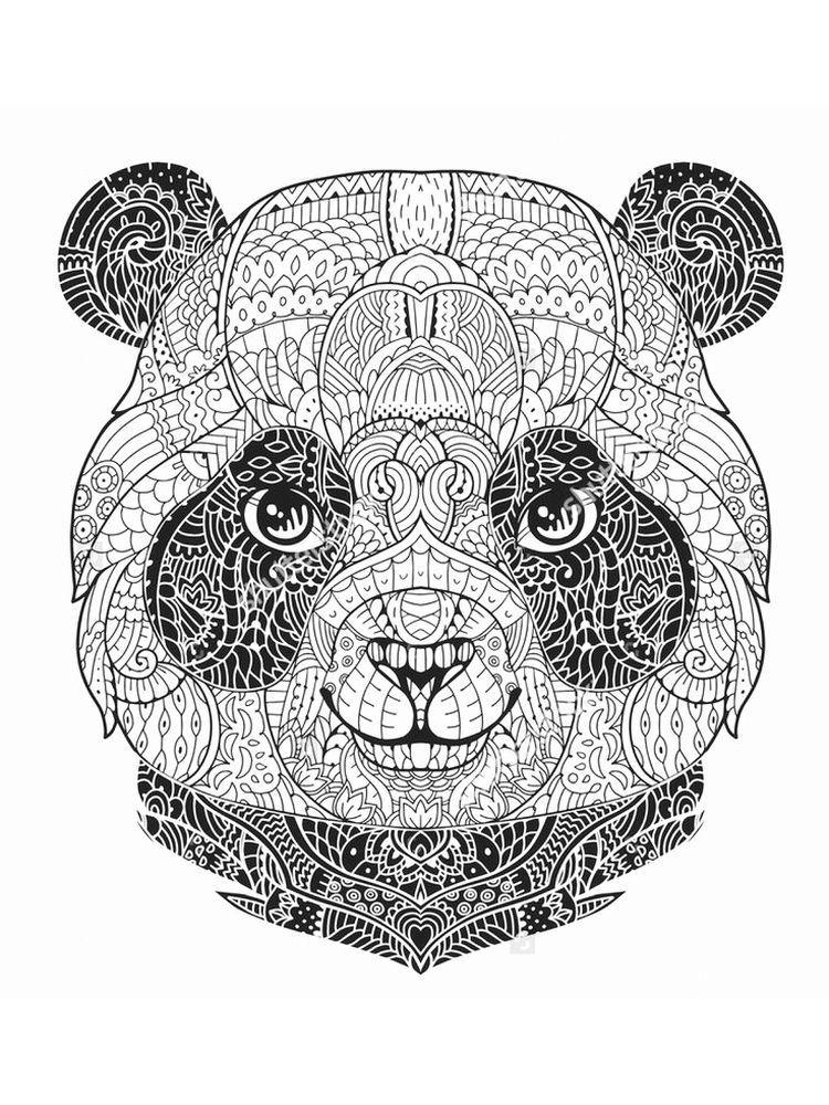 christmas panda | mandala malvorlagen, mandala ausmalen