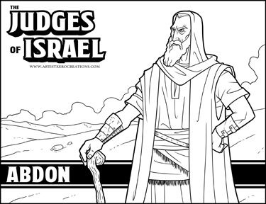 The Judges Of Israel Abdon Judges Of Israel Coloring Pages