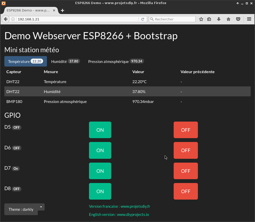 Bootstrap (Web Server ESP8266): use the Bootswatch themes