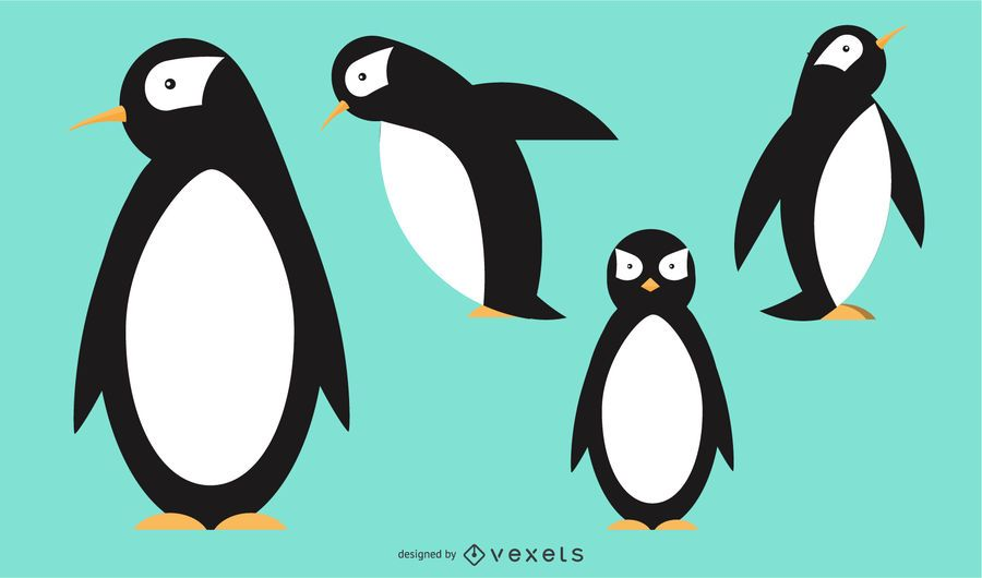 Penguin Rounded Geometric Vector Design Ad Aff Affiliate Rounded Design Vector Penguin In 2020 Geometric Vector Vector Design Geometric