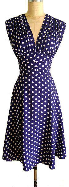 1940's Polka-Dot Dress.