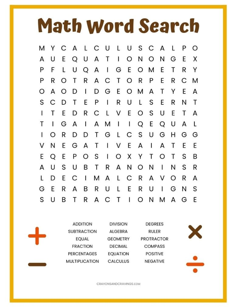 5 Free Word Search Worksheets Math In 2020 Math Words Math Word Search Basic Math Worksheets