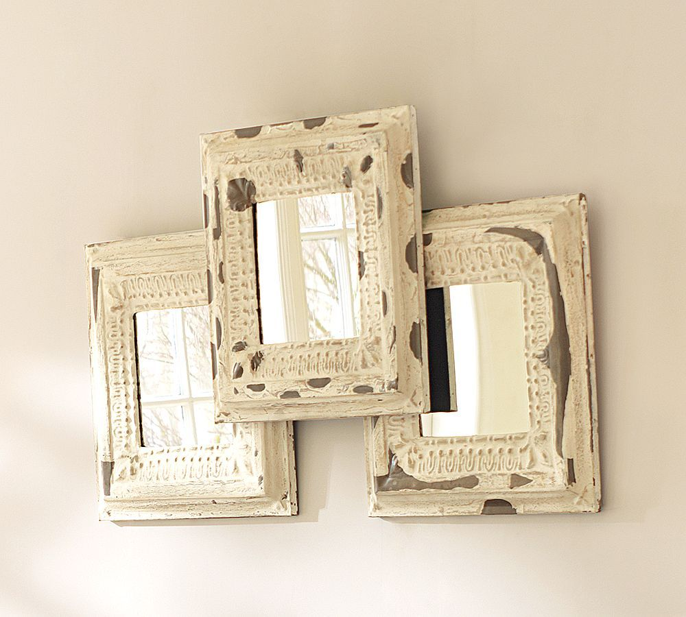 Pottery Barn Home Decor Mirrors Rustic Mirrors Tin Mirrors