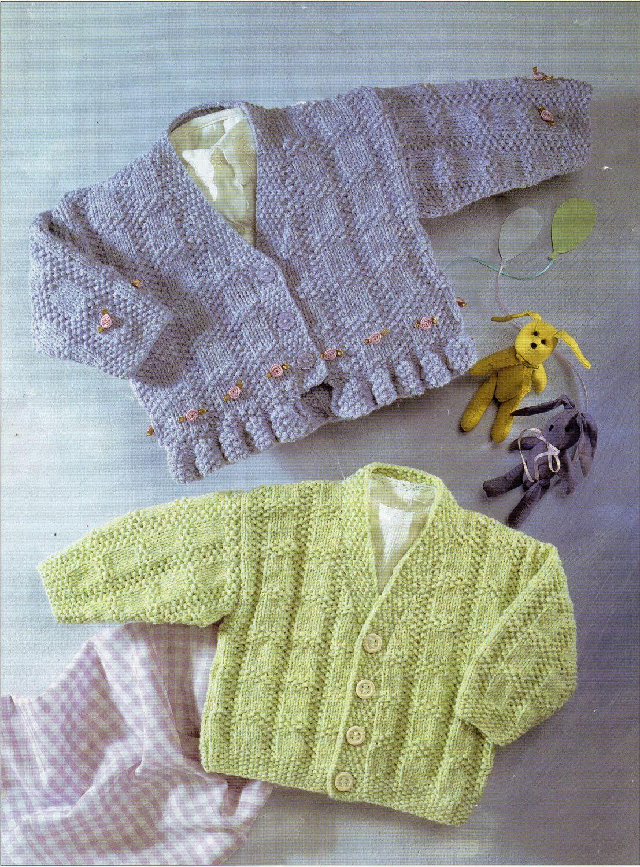 c9c7fadf6 Baby cardigan knitting pattern PDF baby girls frill edge jackets ...