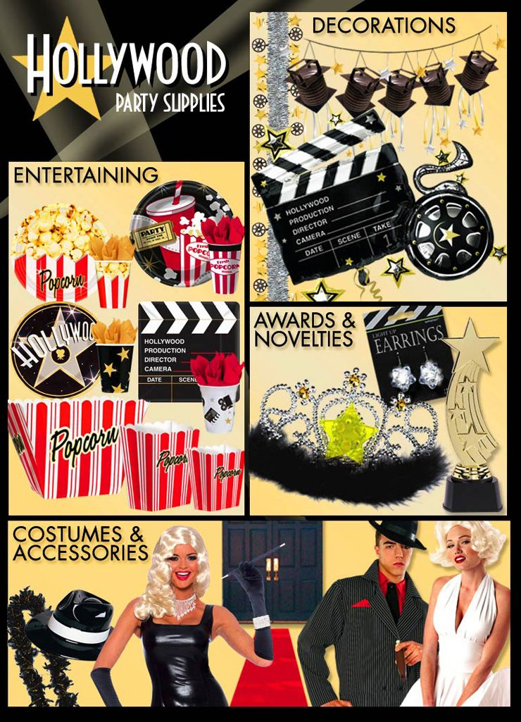 Image detail for -hollywood party supplies tableware themes drinkware serveware drink ...