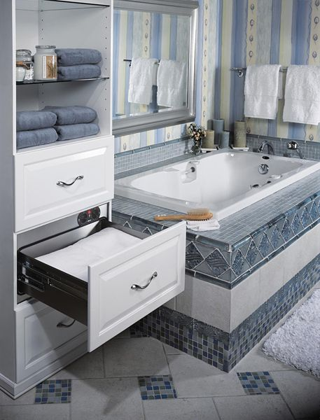 The Drawer Warms Your Towel With A Built In Timer Warming Drawer Bathroom Storage Bathroom Trends
