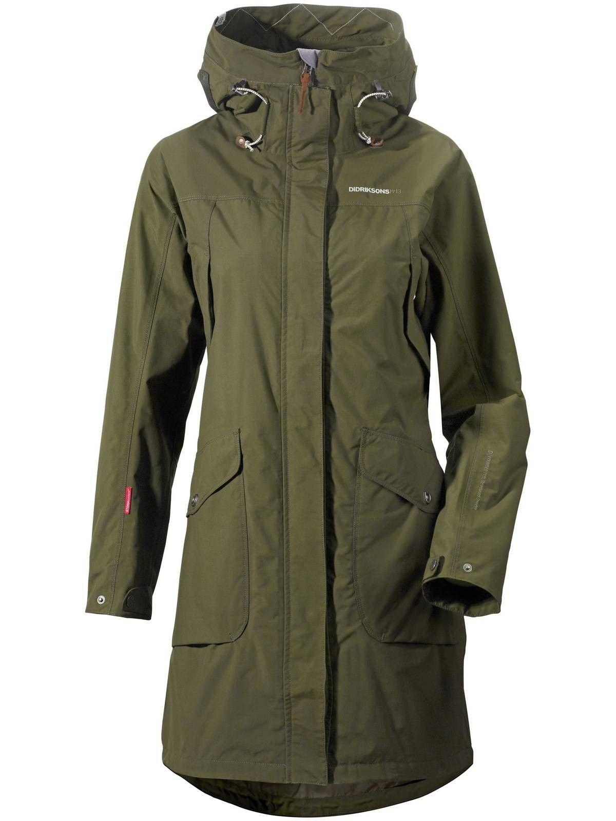 51930fb4725 Didriksons Thelma Coat Green | for 2018 | Waterproof parka, Parka ...