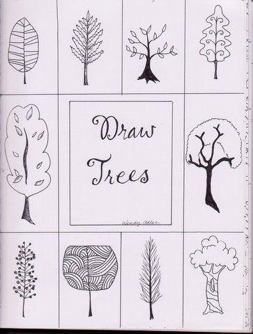 Draw Trees Things I Love Watching Pinterest Dibujar Arboles