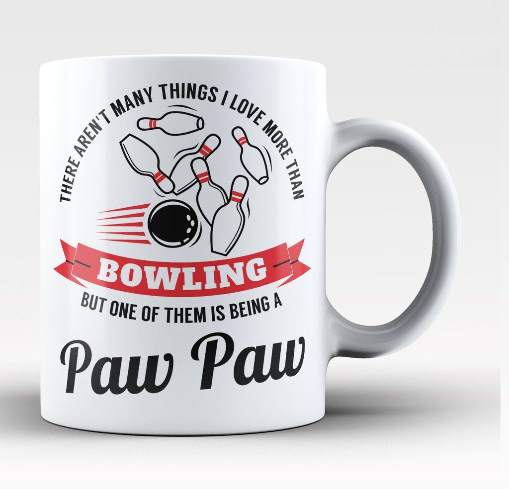 There aren't many things I love more than bowling but one of them is being a Paw Paw. The perfect coffee mug for any proud bowling Paw Paw. Order here - https://diversethreads.com/products/this-paw-paw-loves-bowling-mug