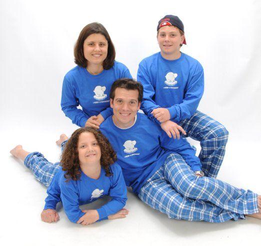 Family Christmas Pajamas Blue.Matching Family Christmas Pajamas Blue Polar Bear Family