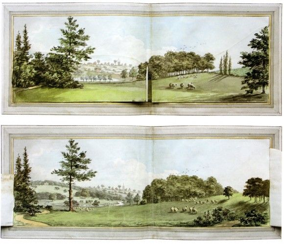 Humphrey Repton Garden Designer before and after drawings ...