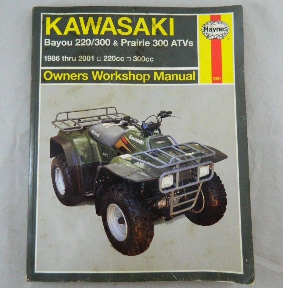 Haynes KAWASAKI ATV Shop Manual Bayou 220/300 Prairie 300 Repair Book  1986-2001