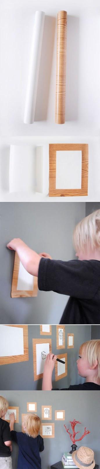 DIY WALL DECOR - Dry erased frame art gallery