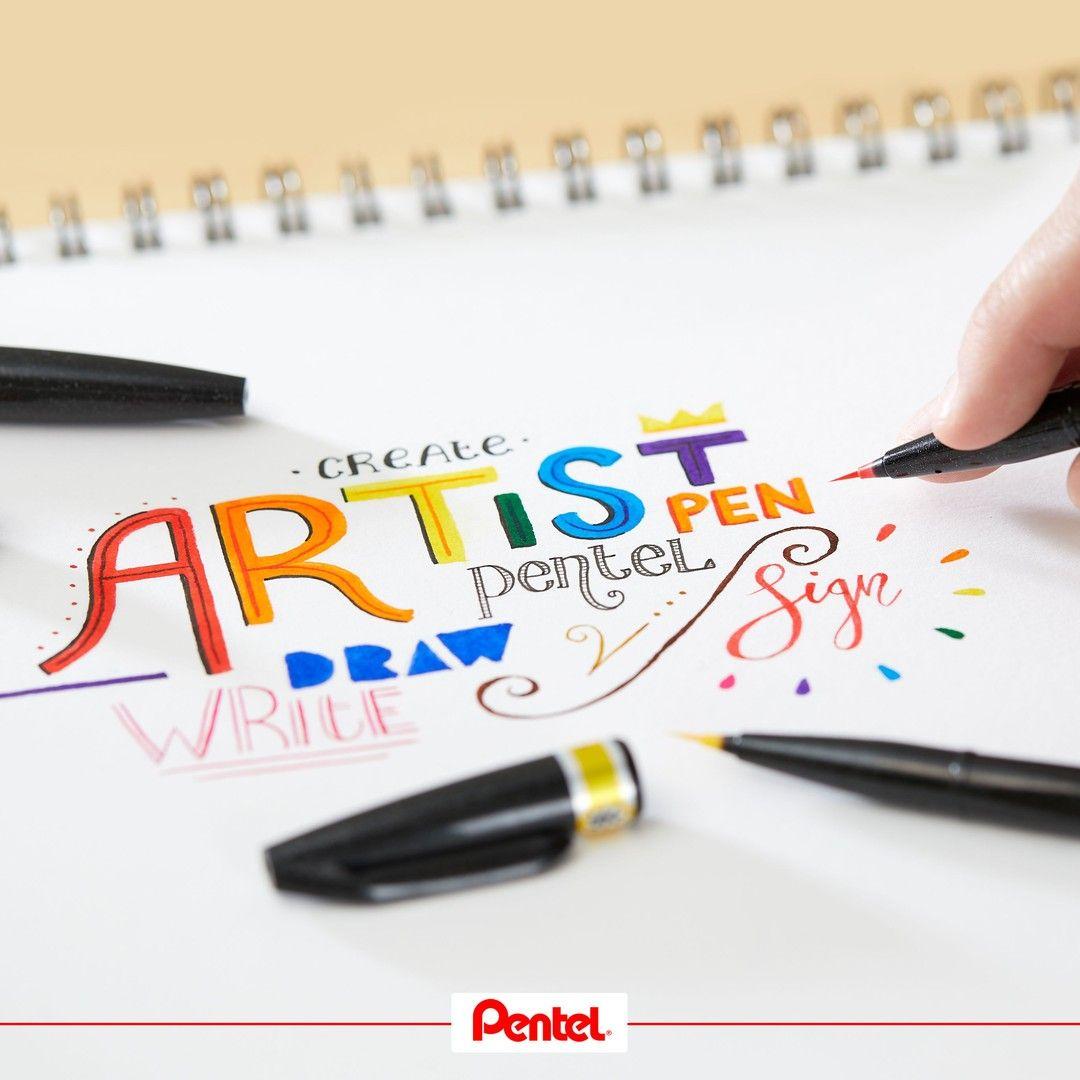 PentelArts Pinselstift Sign Pen Artist schwarz