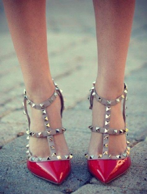 shoes, Valentino rockstud pumps