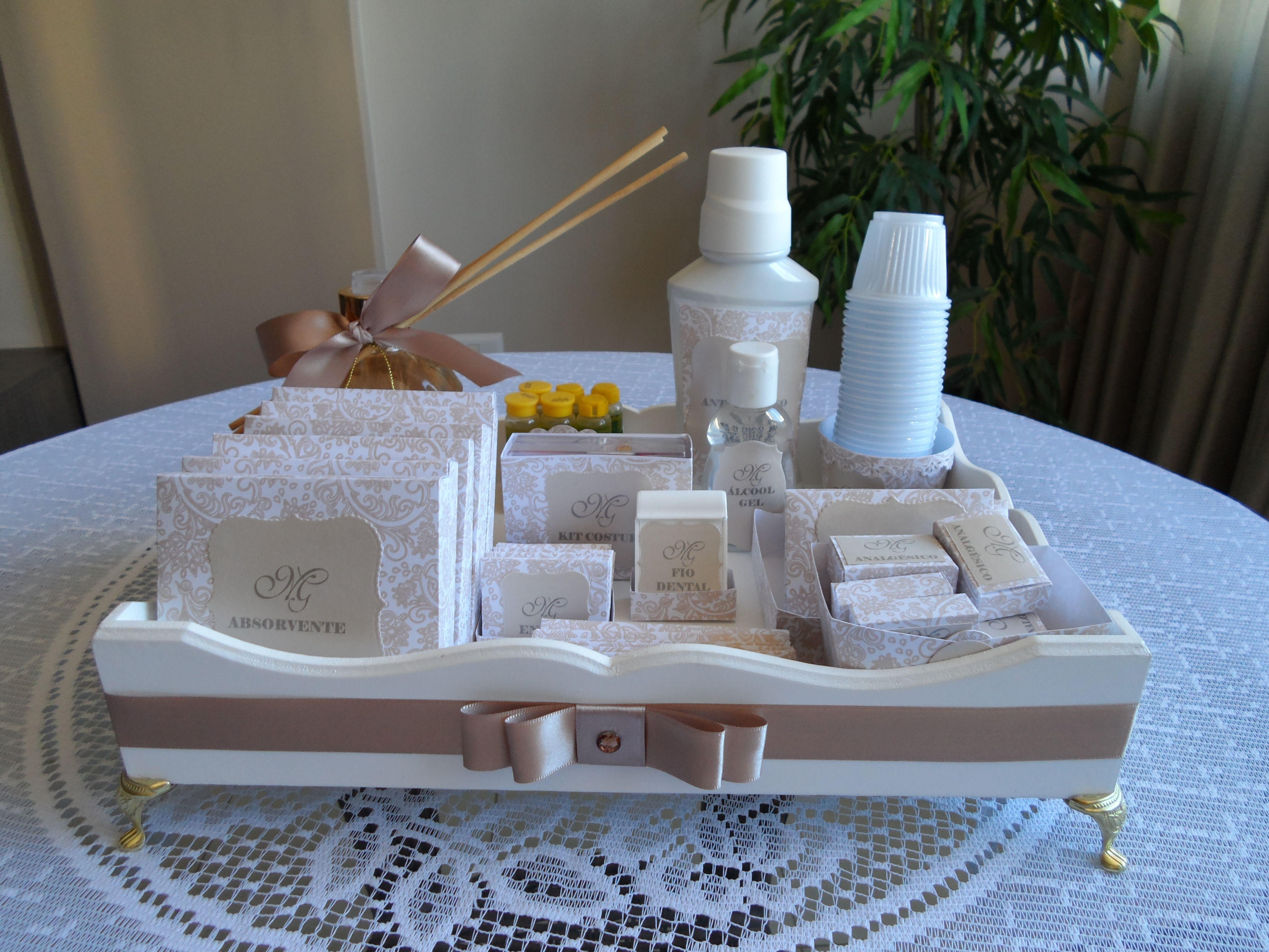 Kit Banheiro Para Casamento Goiania : Kit toilet produzido por m?nica guedes caixas