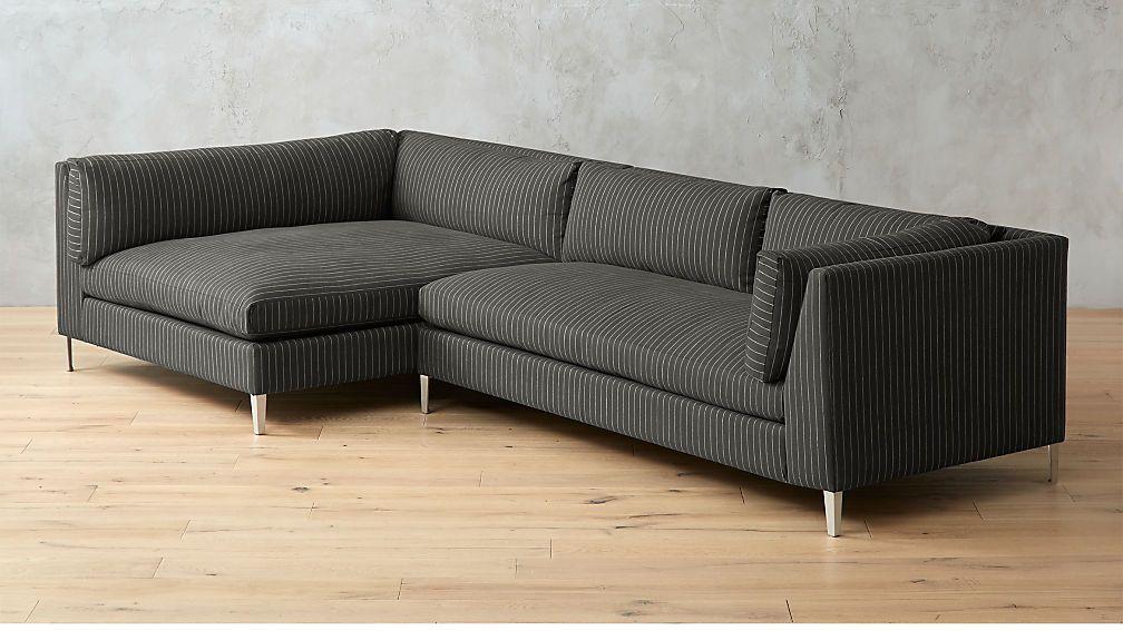 Decker 2 Piece Striped Sectional Sofa Reviews Cb2 Sectional Sofa Modern Sofa Sectional Sectional