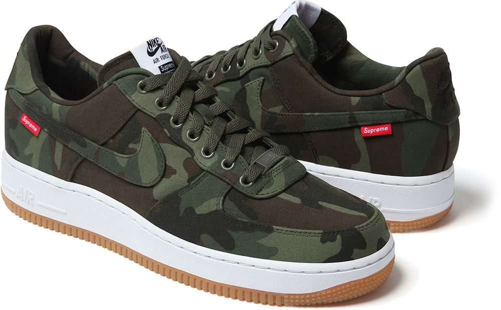 Supreme x Nike Air Force 1 Camo Sneaker (Release Date + Official Images)