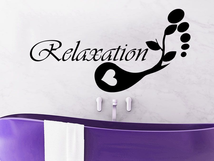 relaxation wall decal vinyl sticker decals beauty salon spa relax bathroom c488