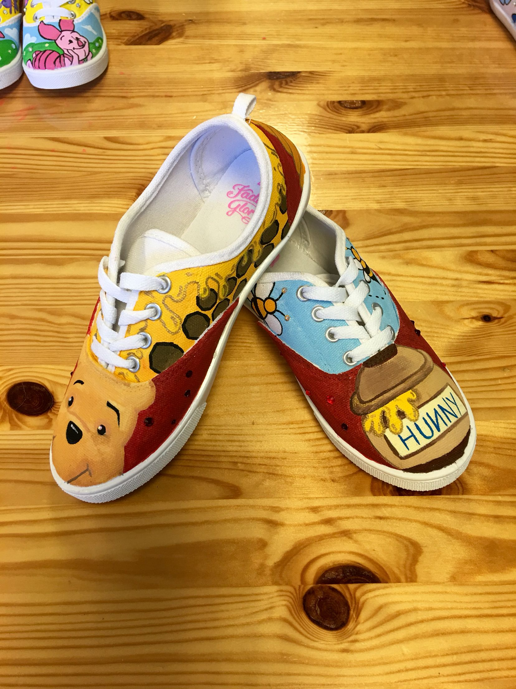 Winnie the Pooh hand painted canvas shoes  b67f56f00
