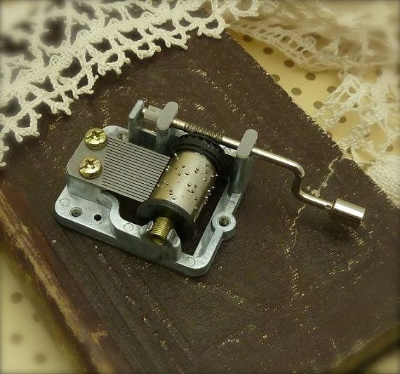 small crank music box by bisbeebliss on Etsy, $11.00