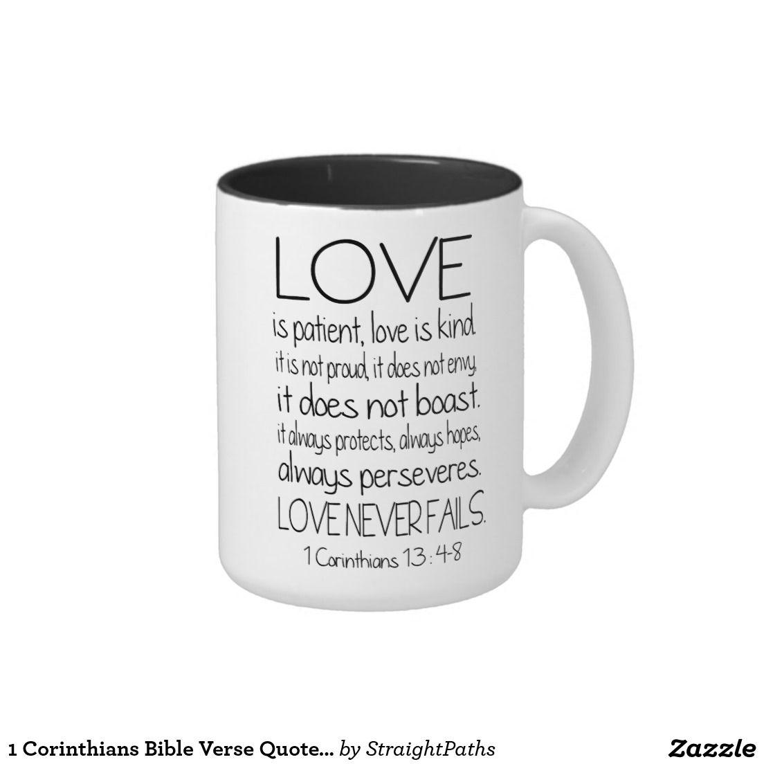 Corinthians Love Quotes 1 Corinthians Bible Verse Quote Love Twotone Coffee Mug  Mugging
