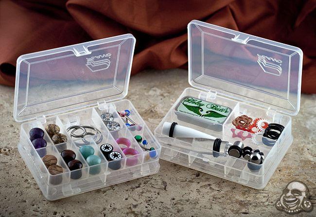 Mini Clear Storage Case Jewellery Storage Body Jewelry Body Piercing Jewelry