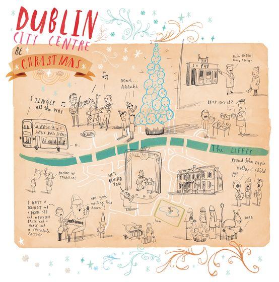 Dublin By Oliver Jeffers Illustrated Map Travel Sketchbook