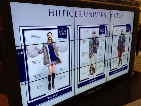 """""""Which Hilfiger are you?"""" asks digital Tommy pod in NJmall"""