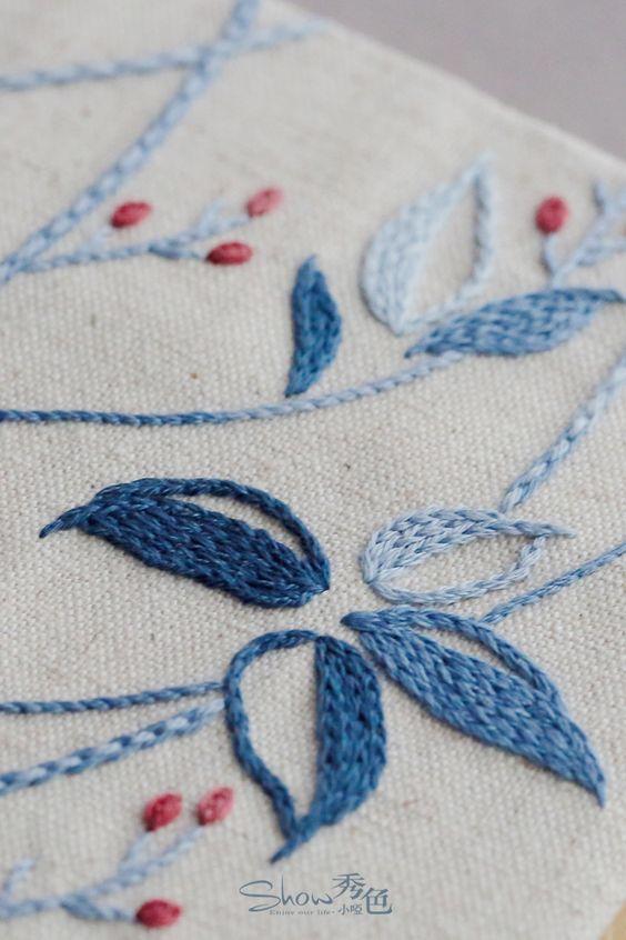 原】亲爱的那棵树。 | Embroidery stitches | Pinterest | Bordado ...