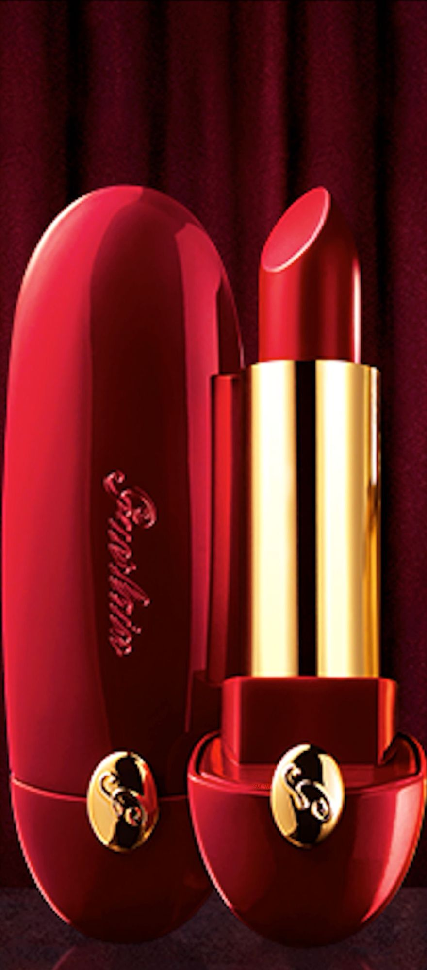 Seductive Guerlain Red Lips - #Luxurydotcom