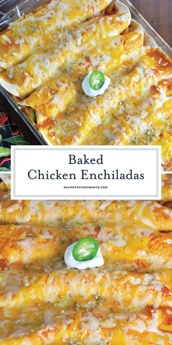 Baked Chicken Enchiladas images