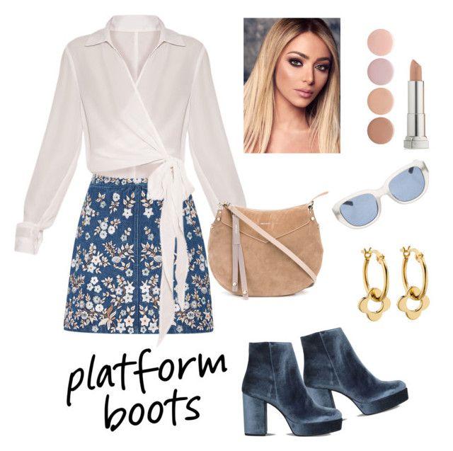 """Platform Boots"" by mayrae-sanchez ❤ liked on Polyvore featuring Carvela, Needle & Thread, Jimmy Choo, Deborah Lippmann, Maybelline, Orla Kiely, Linda Farrow and PlatformBoots"