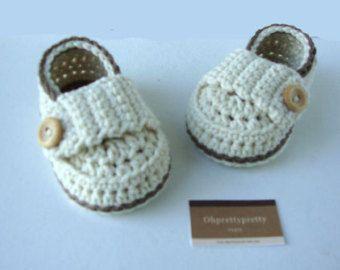 Gestricken Baby Booties kleiner Faulenzer von Ohprettypretty